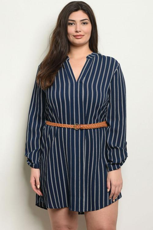 Classic Stripes Dress: Navy/White - Bella and Bloom Boutique