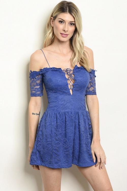 Love Child Romper: Indigo - Bella and Bloom Boutique