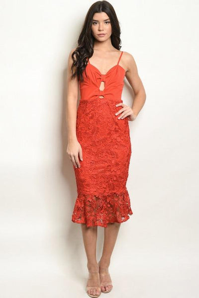 Your Love is a Melody Dress: Red - Bella and Bloom Boutique