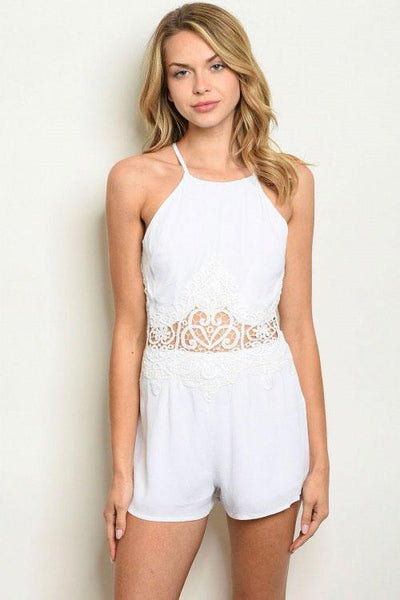 From a Dream Romper: White - Bella and Bloom Boutique