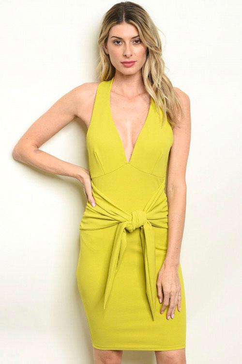 Hold it Together Dress: Lime - Bella and Bloom Boutique