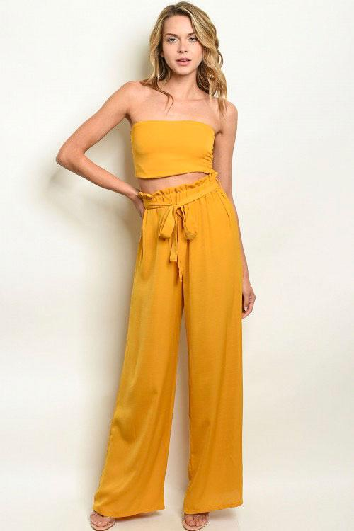 You're the One Two Piece Set: Mustard - Bella and Bloom Boutique