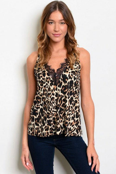 RESTOCK: Back to the Wild Cami: Leopard - Bella and Bloom Boutique