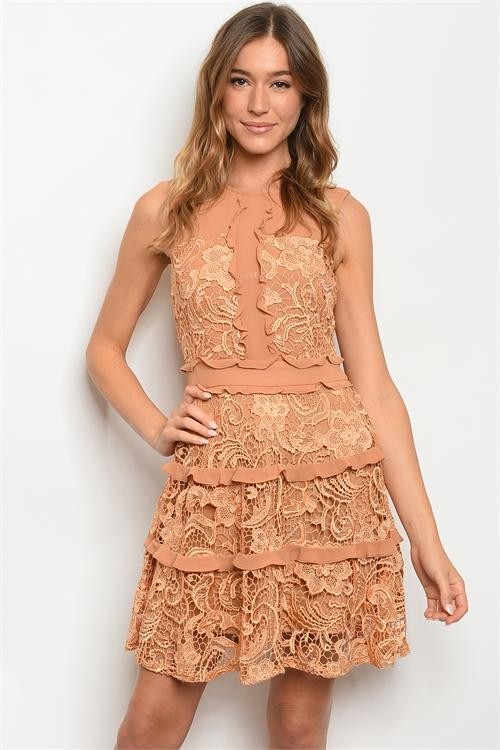 Means the Most Dress: Camel - Bella and Bloom Boutique