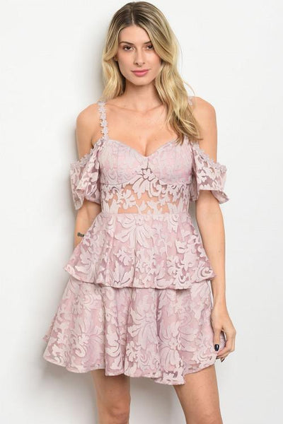 Pretty Little Heart Dress: Dusty Pink - Bella and Bloom Boutique