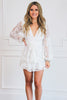 Bridal Bliss Lace Romper: White - Bella and Bloom Boutique
