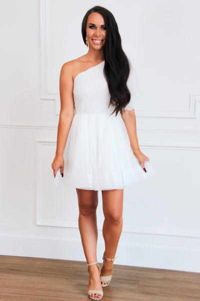 RESTOCK: Kiss Me Dress: White - Bella and Bloom Boutique