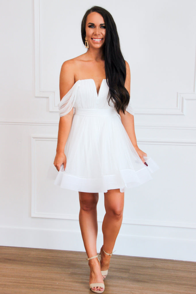 Always Yours Dress: White - Bella and Bloom Boutique