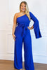 Pour the Champagne Jumpsuit: Royal Blue - Bella and Bloom Boutique