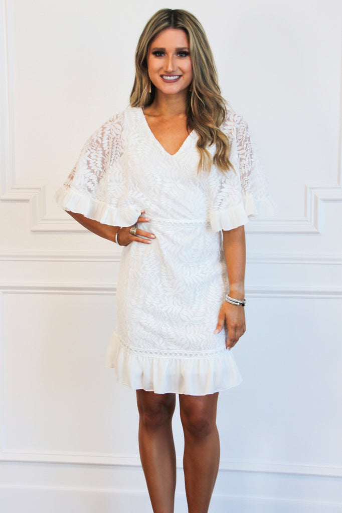 RESTOCK: Stunning Bride Lace Dress: Ivory - Bella and Bloom Boutique