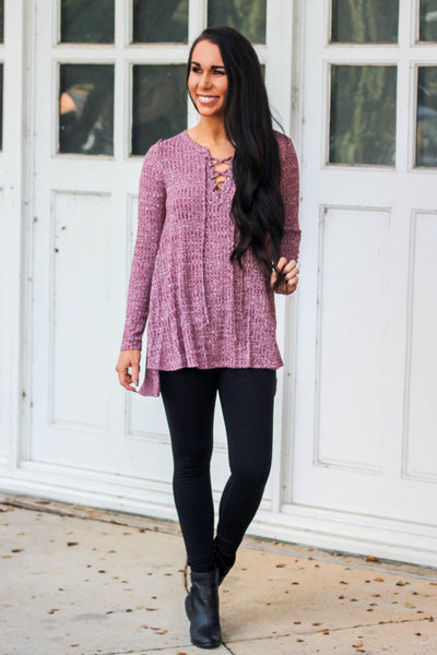 Should Have Known Top: Mauve - Bella and Bloom Boutique