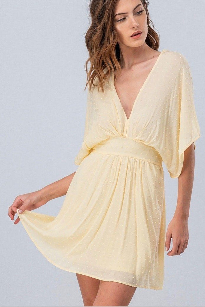 Carrigan Dress: Pastel Yellow - Bella and Bloom Boutique