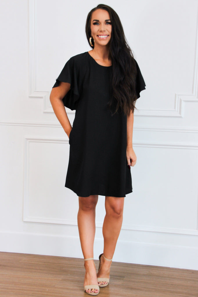 Loved By You Dress: Black - Bella and Bloom Boutique
