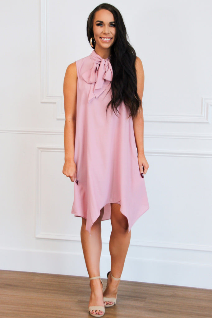 Oh, So Chic Dress: Blush - Bella and Bloom Boutique
