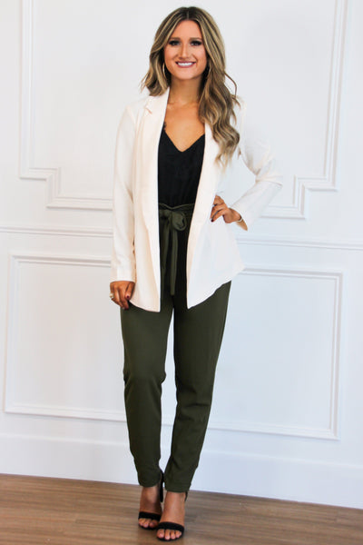 PRE-ORDER: Fall Favorite Pants: Olive - Bella and Bloom Boutique