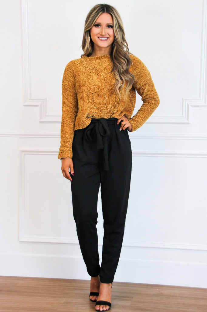 RESTOCK: Fall Favorite Pants: Black - Bella and Bloom Boutique