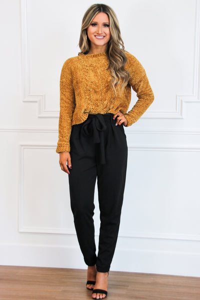 PRE-ORDER: Fall Favorite Pants: Black - Bella and Bloom Boutique