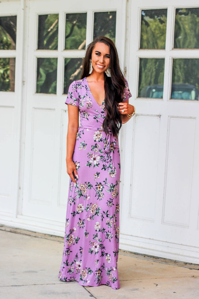 Lavender Fields Maxi Dress: Lavender - Bella and Bloom Boutique