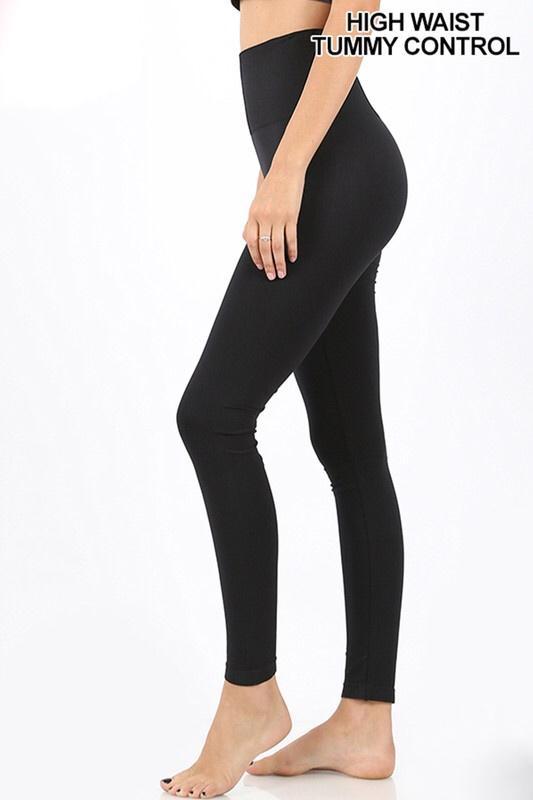 RESTOCK: Classic Seamless Leggings: Black - Bella and Bloom Boutique