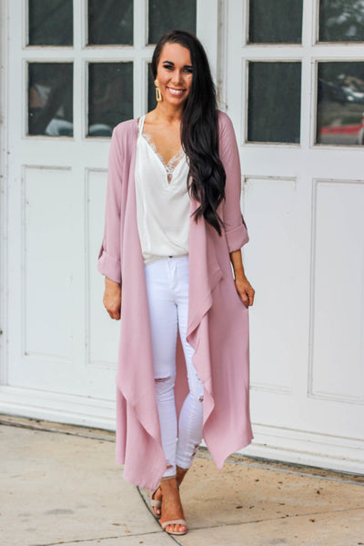 RESTOCK: City Girl Cardigan: Blush - Bella and Bloom Boutique