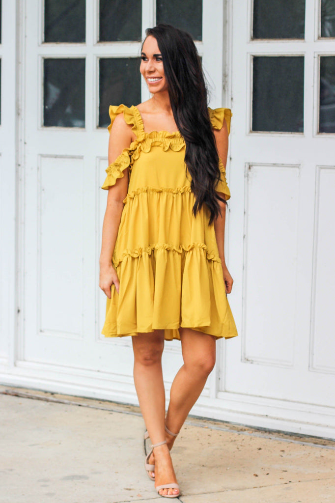 Willow Dress: Mustard - Bella and Bloom Boutique