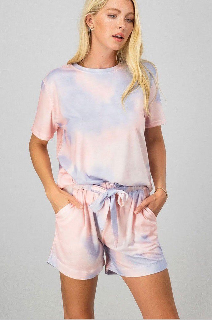 RESTOCK: Sweet Dreams Tie Dye Two Piece Set: Pink/Lavender - Bella and Bloom Boutique