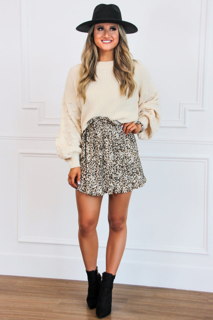 So Chic Sweater: Oatmeal - Bella and Bloom Boutique