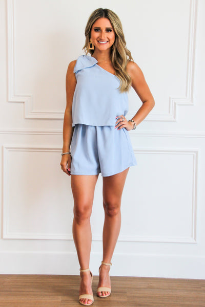 Oh, So Sweet Romper: Periwinkle
