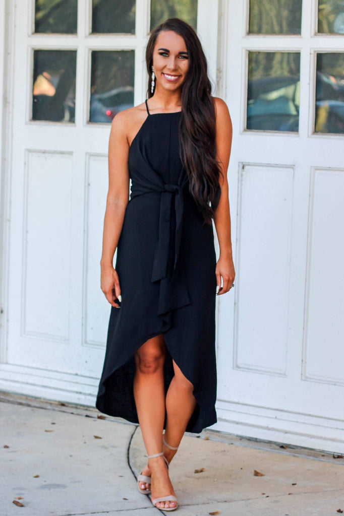 Jules Midi Dress: Black - Bella and Bloom Boutique