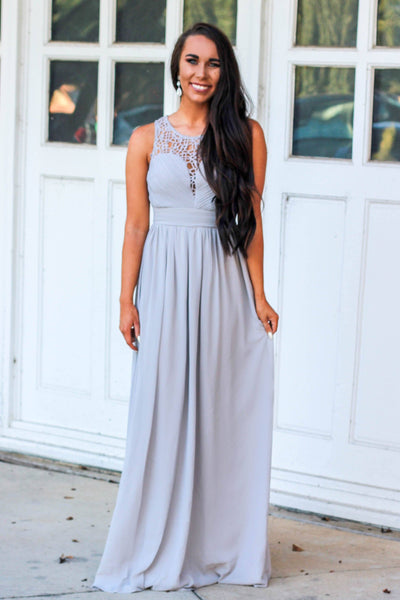 Always Loved You Maxi Dress: Gray - Bella and Bloom Boutique