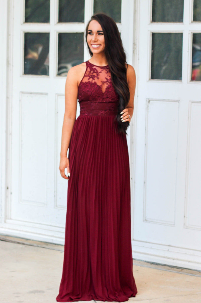 Fall Weddings Maxi Dress: Burgundy - Bella and Bloom Boutique