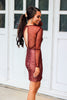 The Jet Set Diaries Emerson Dress: Rust - Bella and Bloom Boutique