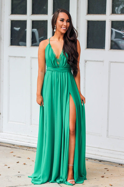 Green With Envy Maxi Dress: Emerald - Bella and Bloom Boutique