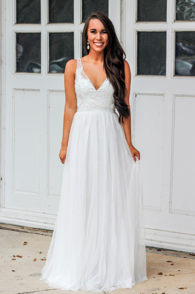 Forever Kind of Love Maxi Dress: Ivory - Bella and Bloom Boutique