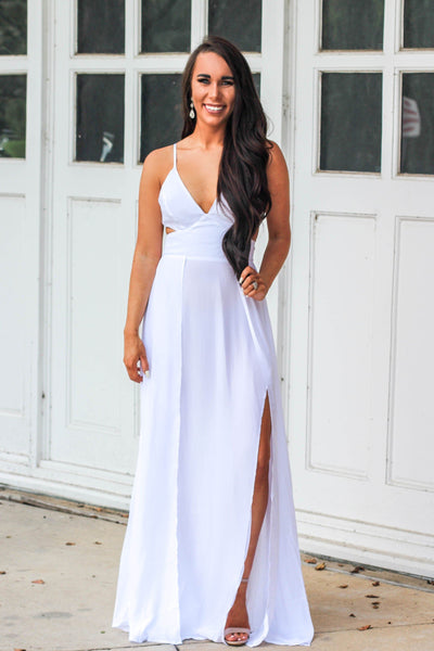 9f2d67cbf996 Better Off Wed Maxi Dress  White - Bella and Bloom Boutique
