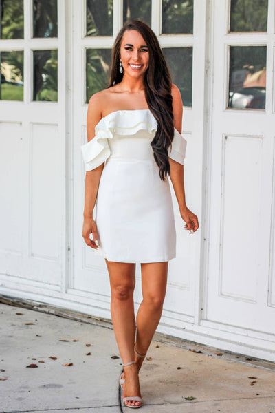 RESTOCK: Bridal Babe Dress: White - Bella and Bloom Boutique