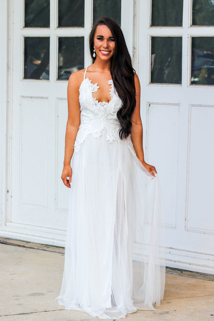 Heavenly Bride  Maxi Dress: White - Bella and Bloom Boutique