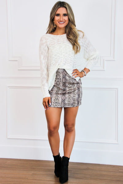 All Too Well Sweater: Ivory - Bella and Bloom Boutique
