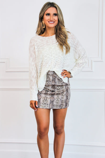 All the Wild Skirt: Taupe - Bella and Bloom Boutique