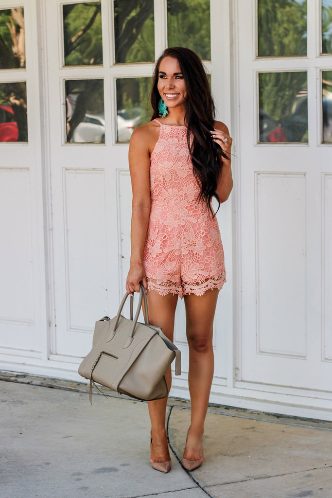 Best Day Ever Romper: Peach - Bella and Bloom Boutique