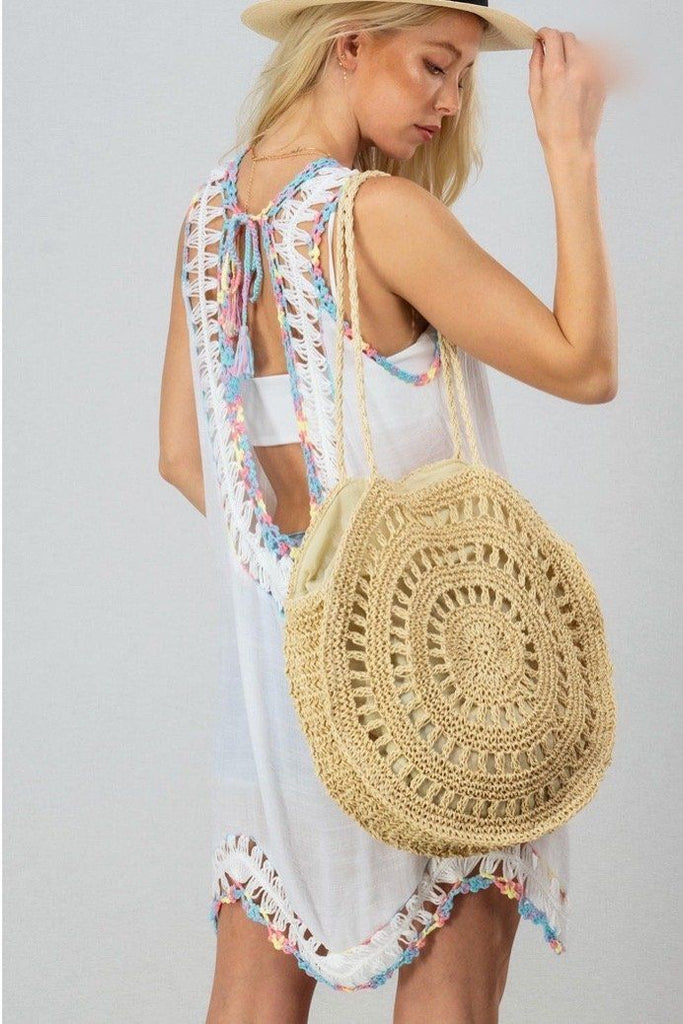 RESTOCK: Boho Babe Sleeveless Cover Up: White - Bella and Bloom Boutique