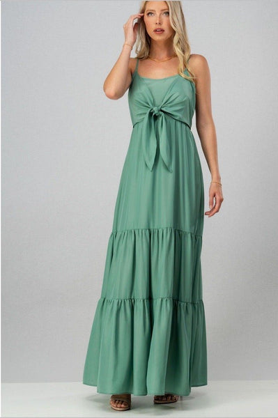 RESTOCK: Behati Maxi Dress: Sage - Bella and Bloom Boutique