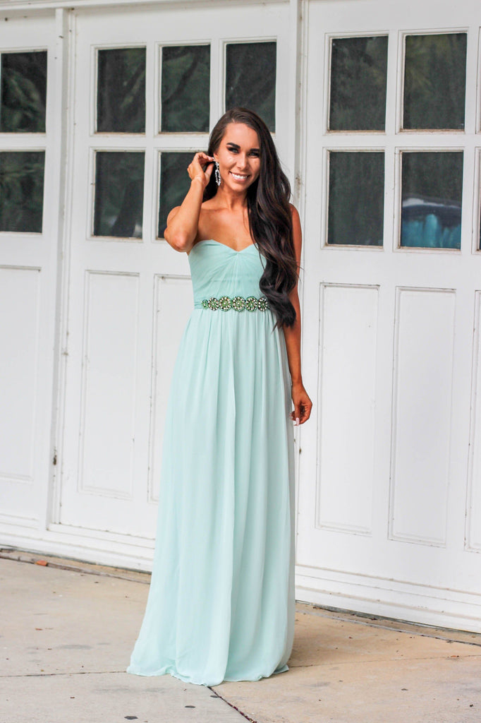 RESTOCK: Always Love Maxi Dress: Mint - Bella and Bloom Boutique