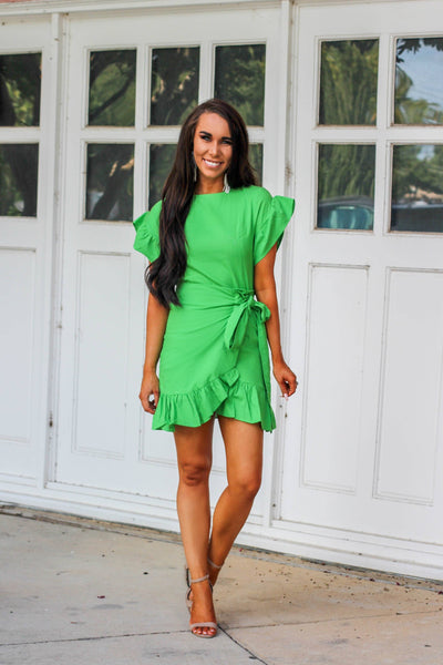 Lovely Day Dress: Green