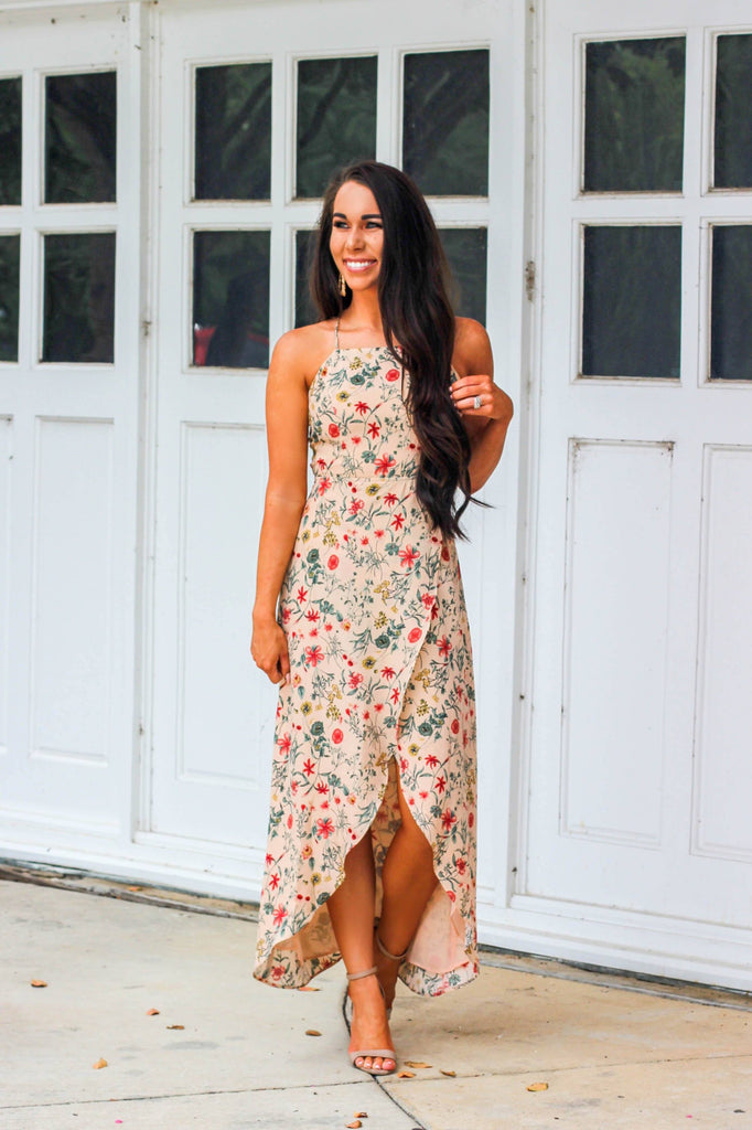 California Desert Maxi Dress: Mustard - Bella and Bloom Boutique