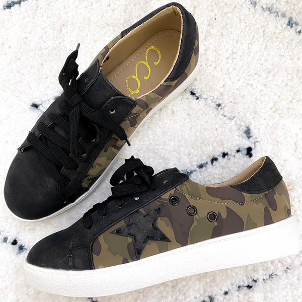 RESTOCK: Star Sneakers: Camo - Bella and Bloom Boutique
