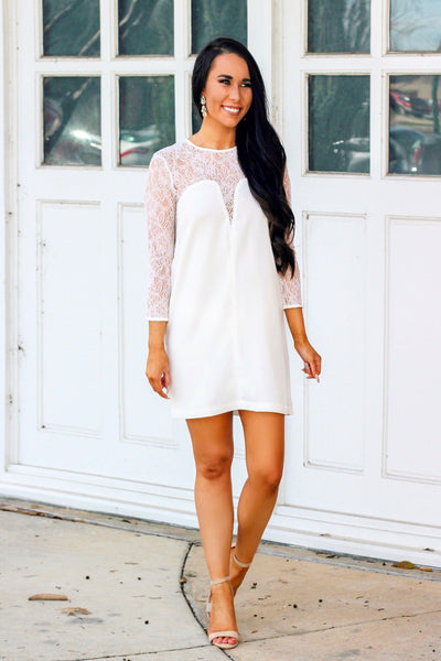 RESTOCK: Ready to Wed Dress: White - Bella and Bloom Boutique