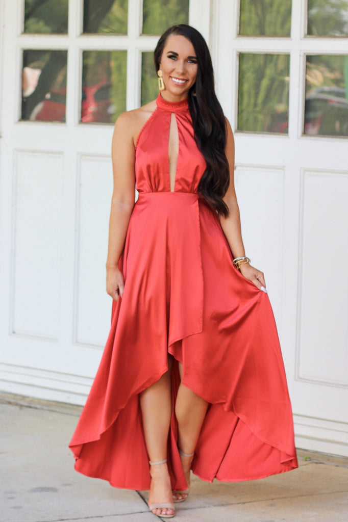 Wedding Season Maxi Dress: Tomato - Bella and Bloom Boutique