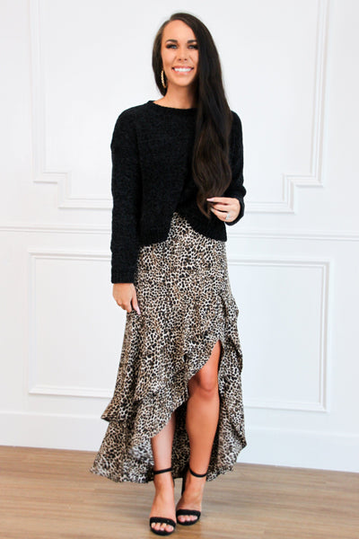 Flawless Night Maxi Skirt: Leopard - Bella and Bloom Boutique