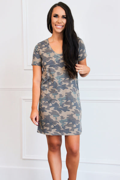 Gotta Have It Camo Dress: Camo - Bella and Bloom Boutique